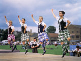 Dancers at the Highland Games  Edinburgh  Lothian  Scotland  United Kingdom