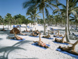 Yoga on the Beach  Cancun  Quintana Roo  Yucatan  Mexico  North America