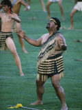 Maoris Perform Traditional Action Songs  Auckland  North Island  New Zealand