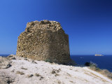 Clifftop Ruin at the Punta De L'Escaleta  Benidorm  Valencia  Spain