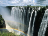 Waterfalls and Rainbows  Victoria Falls  Unesco World Heritage Site  Zambia  Africa