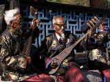 The Naxi Orchestra Pracisting by the Black Dragon Pool  Lijiang  Yunnan Province  China
