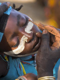 Face Painting with a Mixture of Clay  Turmi  Ethiopia