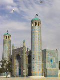 White Pigeons Fly Around the Shrine of Hazrat Ali  Mazar-I-Sharif  Afghanistan