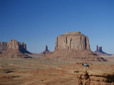 Navajo Lands  Arid Landscape with Eroded Rock Formations  Monument Valley  USA