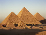 Pyramids at Sunset  Giza  Unesco World Heritage Site  Near Cairo  Egypt  North Africa  Africa