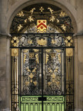Ornate Gilt Gate of All Souls' College  Oxford  Oxfordshire  England  United Kingdom