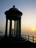 Silhouette of Marble Mirador at Sunset  Son Marroig  Near Deya  Balearic Islands
