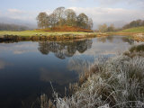 River Brathay in Winter  Near Elterwater  Lake District  Cumbria  England  United Kingdom