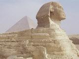 The Sphinx and Chephren Pyramid Beyond  Giza  Unesco World Heritage Site  Near Cairo  Egypt