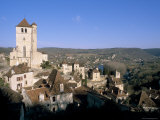 Village of St- Cirq-Lapopie on a Rock Above Lot River  Quercy Region  Lot  France