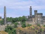 Calton Hill Monuments  Edinburgh  Lothian  Scotland  United Kingdom