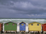 Beach Huts  Muizenberg  Cape Peninsula  South Africa  Africa