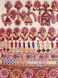 Traditional Rabari Tribal Embroidered Fabrics  Kutch  Gujarat State  India