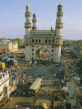 The Char Minar (Charminar) Triumphal Arch in Hyderabad  Andhra Pradesh  India