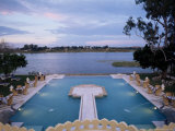 The Swimming Pool Over Looking the Lake at Dungarpur  Udai Bilas Palace  Dungarpur  India