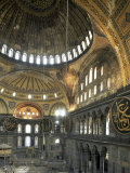 Interior of Santa Sofia (Hagia Sophia) (Aya Sofya)  Unesco World Heritage Site  Istanbul  Turkey