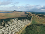 Hadrian's Wall  Unesco World Heritage Site  Northumbria  England  UK