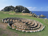 Troy Town Maze  St Agnes  Isles of Scilly  United Kingdom