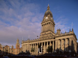 Town Hall  a Grand Victorian Building on the Headrow  Leeds  Yorkshire  England