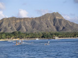 View of Diamond Head Crater  Oahu  Hawaii  Hawaiian Islands  USA