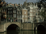 Junction of Reguliersgracht and Keizersgracht Canals  Amsterdam  Holland
