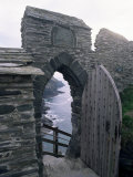 Doorway  Tintagel Castle  Cornwall  England  United Kingdom