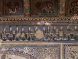 Detail of the Fine Plaster Work in the Sheesh Mahal  Samode Palace Hotel  Samode  India