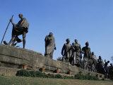 Mahatma Gandhi  the Eleven Statues  Delhi  India