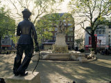Chaplin Statue and Leicester Square  London  England  United Kingdom