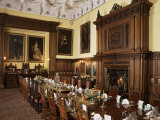 Dining Room Set for Private Dinner  Glamis Castle  Highland Region  Scotland  United Kingdom