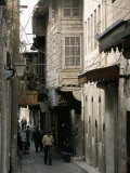 Narrow Street in the Armenian Area of Aleppo  Syria  Middle East