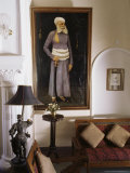 Portrait in the Drawing Room  Deo Garh Palace Hotel  Deo Gah (Deogarh)  Rajasthan State  India