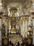Interior of Roccoco Abbey Church  Linz  Austria