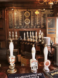 Beer Pumps and Bar  Sun Pub  London  England  United Kingdom
