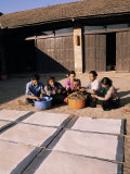 Lhokta Paper Drying as Workers Clean More Daphne Plants to Make into Paper on a UN Funded Project