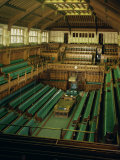 Interior of the Commons Chamber  Houses of Parliament  Westminster  London  England