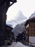 Zermatt and the Matterhorn  Swiss Alps  Switzerland