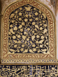 Various Painted  Gilded and Stone Inlay Detail Inside the Tomb  the Tomb of Akbar  Near Agra