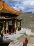 A Tibetan Nunnery at Garze  Sichuan Province  China