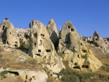 Houses in Rock Formations  Cappadocia  Anatolia  Turkey
