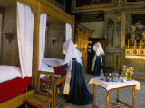 Tableau Shows Work of the Nursing Sisters  Hotel Dieu  Beaune  Burgundy  France