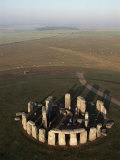Aerial View of Stonehenge  Unesco World Heritage Site  Salisbury Plain  Wiltshire  England