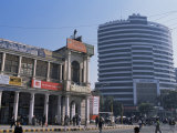 Old and New Architecture  Connaught Place  New Delhi  Delhi  India