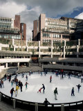 Open Air Ice Rink  Broadgate  City of London  London  England  United Kingdom