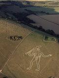 Aerial View of the Cerne Abbas Giant  Dorset  England  United Kingdom
