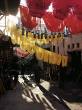 Dyed Wool  Dyers Souk  Marrakesh  Morocco  North Africa  Africa
