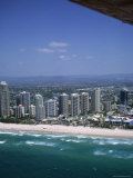 Aerial View of Central Area of Surfers Paradise  Gold Coast  Queensland  Australia