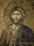 Mosaic of Christ  Santa Sofia  Istanbul  Turkey  Eurasia