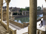Sacred Pools Surrounded by Mosques and Koranic Colleges  Urfa  Kurdistan  Anatolia